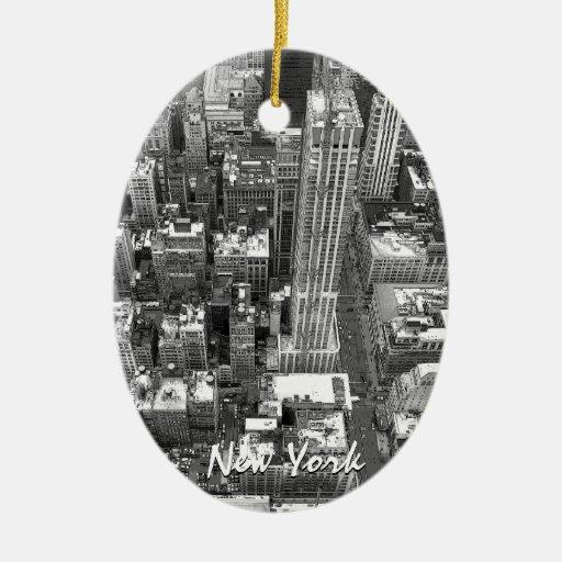 De Gepersonaliseerde New York Herinnering van New  Kerst Ornament