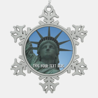 De Gepersonaliseerde New York Herinnering van New  Tin Sneeuwvlok Ornament
