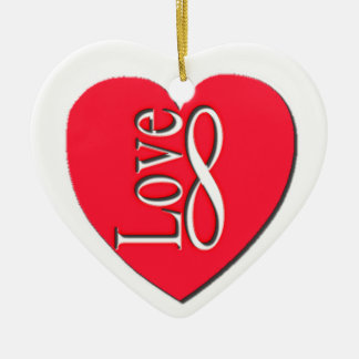 De Gepersonaliseerde oneindigheid van de liefde, Keramisch Hart Ornament