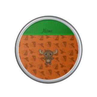 De gepersonaliseerde oranje bladeren van speaker