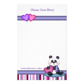 De gepersonaliseerde Panda dragen & de Briefpapier