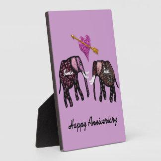 De Gepersonaliseerde Plaque van olifanten Jubileum Platen
