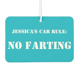 De gepersonaliseerde Regel van de Auto: Geen Auto Luchtverfrissers
