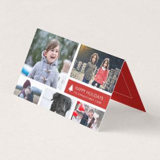 De gepersonaliseerde Rode Strepen van Kerstmis van Kaart