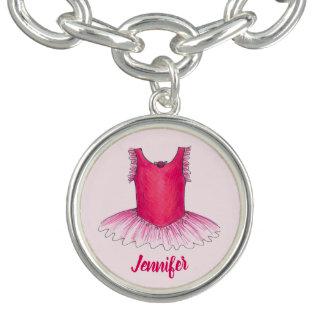 De gepersonaliseerde Roze Gift van de Dans van het Armbandje