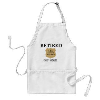 De gepersonaliseerde Schort van de Pensionering
