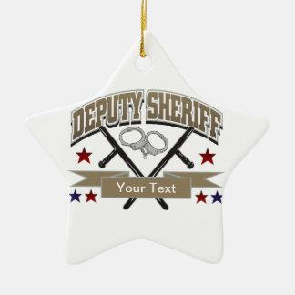 De gepersonaliseerde Sheriff van de Afgevaardigde Keramisch Ster Ornament