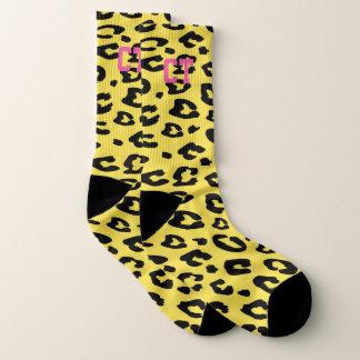 De gepersonaliseerde sokken van de luipaard