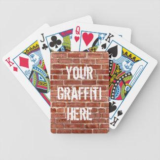 De Gepersonaliseerde Speelkaarten Graffiti van de  Poker Kaarten