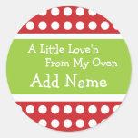 De gepersonaliseerde Sticker van Love'n van