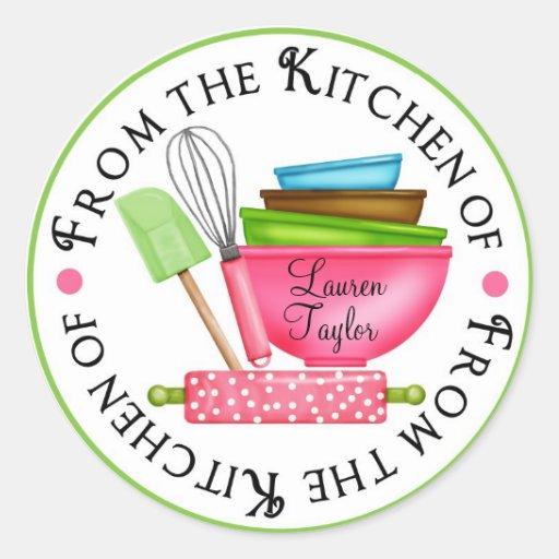 De gepersonaliseerde stickers van de keuken van zazzle - Gepersonaliseerde keuken ...