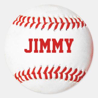De gepersonaliseerde Stickers van het Honkbal