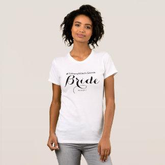 De GEPERSONALISEERDE T-shirt van de Bruid van