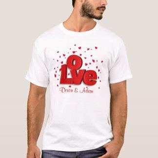 De Gepersonaliseerde T-shirt van Valentijn LIEFDE