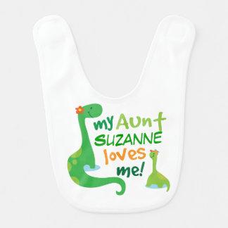De gepersonaliseerde Tante houdt van me de Slab Baby Slabbetje