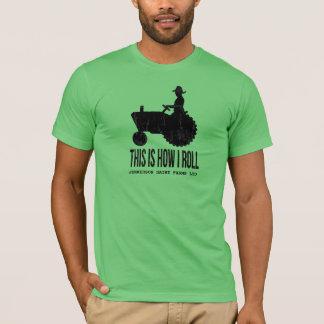 De gepersonaliseerde Tractor van het Boerderij zo T Shirt