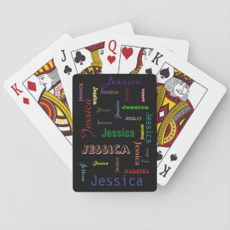 De gepersonaliseerde Typografie van de Wolk van Speelkaarten