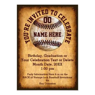 De gepersonaliseerde Uitnodiging van het Honkbal