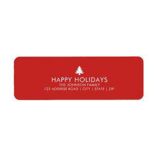 De gepersonaliseerde Vakantie van de Kerstboom Etiket