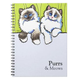 De gepersonaliseerde van-Leiband Art™ van Katten Ringband Notitieboek