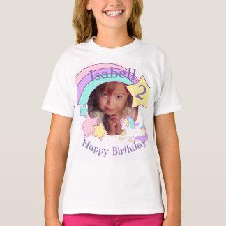 De gepersonaliseerde verjaardag van de Eenhoorn T Shirt