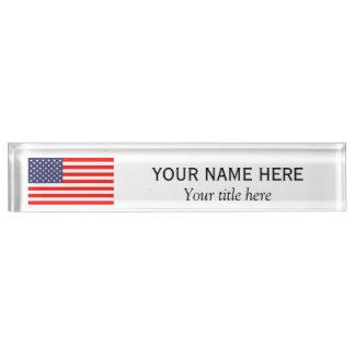 De gepersonaliseerde vlag van de V.S. van de