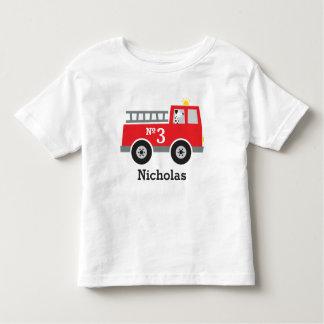 De gepersonaliseerde Vrachtwagen van de Brand van Kinder Shirts