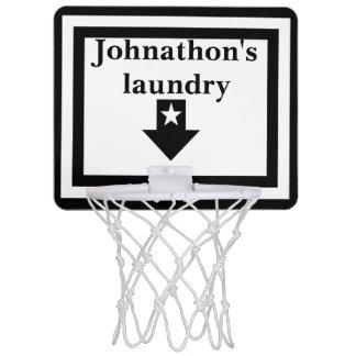 De gepersonaliseerde Witte & Zwarte Hoepel van het Mini Basketbalbord
