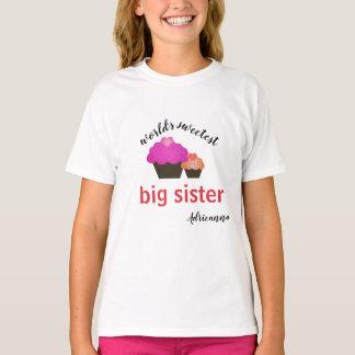 De gepersonaliseerde Zoetste Grote Zuster van de T Shirt
