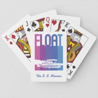 De gepersonaliseerde Zonsondergang van de Boot van Pokerkaarten