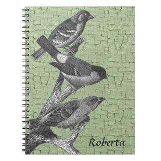 De gepersonaliseerde Zwart-witte Vogels van de Notitieboek