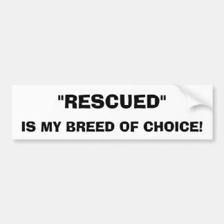 De geredde Sticker van de Bumper van de Hond