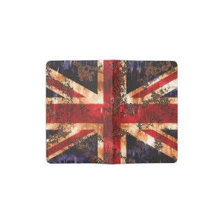 De geroeste Patriottische Vlag van het Verenigd Pocket Moleskine Notitieboekje