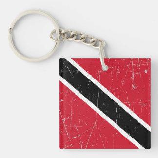 De geschaafde en Gekraste Vlag van Trinidad en van Sleutelhanger