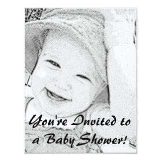 De geschetste Uitnodiging van het Baby shower