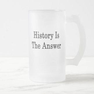 De geschiedenis is het Antwoord Matglas Bierpul
