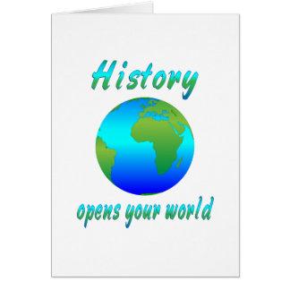 De geschiedenis opent Werelden Briefkaarten 0