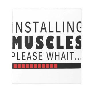 De geschiktheid en de spieren van de gymnastiek notitieblok