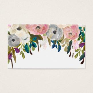 De geschilderde Bloemen Lege Kaarten van de Plaats Visitekaartjes
