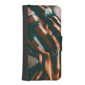 De geschilderde Dame van de Tijgers en de Golven iPhone 5 Portemonnee Hoesje