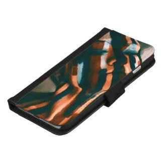 De geschilderde Dame van de Tijgers en de Golven iPhone 8/7 Plus Portemonnee Hoesje