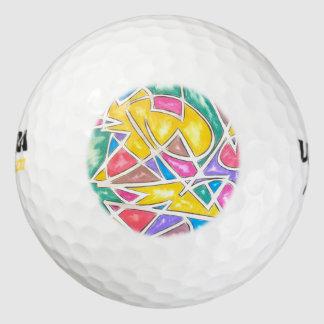 De Geschilderde Geometrische Samenvatting van Golfballen