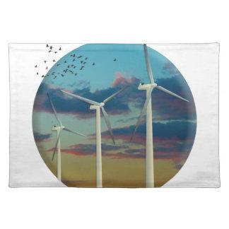 De Geschilderde Hemel van de Turbines van de wind Placemat