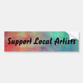 """De geschilderde Lokale Kunstenaars van de Steun """" Bumpersticker"""