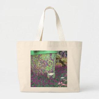 De geschilderde Muur van de Tuin bloeit de KINDER  Canvas Tas