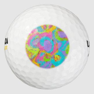 De Geschilderde Penseelstreken van het neon Golfballen