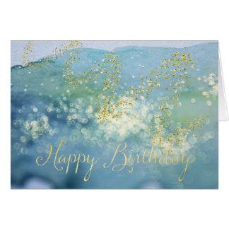De geschitterde Blauwe Kaart van de Verjaardag van