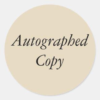 De gesigneerde Sticker van het Exemplaar