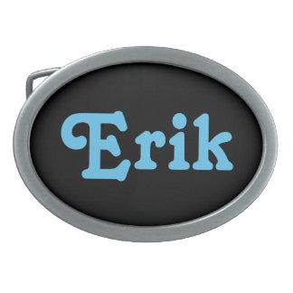 De Gesp Erik van de riem