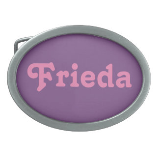 De Gesp Frieda van de riem